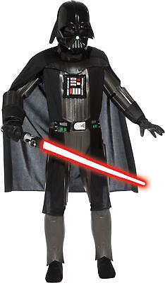 Darth Vader Deluxe Kinder Jungen Kostüm Star Wars Schwarz Thema Party - Darth Vader Deluxe Kostüm Kinder