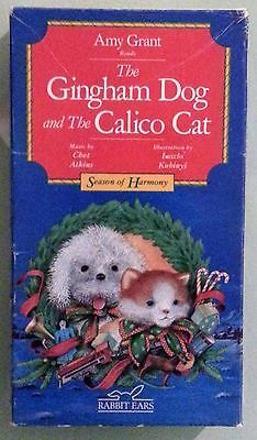 amy grant reads THE GINGHAM DOG AND THE CALICO CAT     VHS VIDEOTAPE