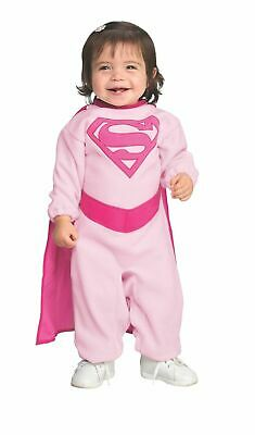 Pink Supergirl Infant Halloween Costume (Newborn Infant Baby Pink Supergirl Costume)