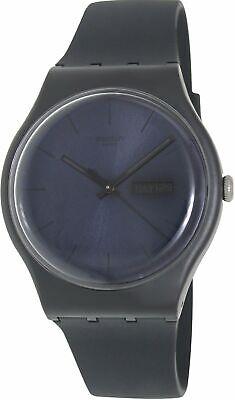 Swatch Men's Originals SUOB702 Black Silicone Quartz Fashion Watch