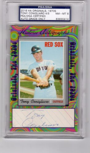 2016 Historic Autographs Tony Conigliaro PSA Boston Red Sox  1970 Topps #340 MT
