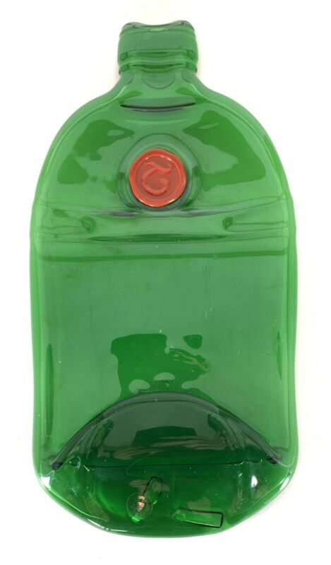 St. Louis Glass Tanqueray Gin Heavy Green Glass Bar Decoration