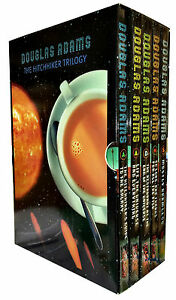 Douglas-Adams-5-Books-set-The-Hitchhikers-Guide-to-the-Galaxy-Full-Bran-New-Set