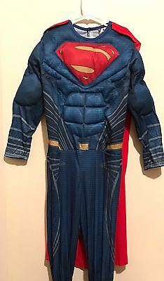 SUPERMAN MUSCLE CHEST COSTUME HALLOWEEN Boys Size 12-14 (ages 10-12) - Halloween Costumes Age 12