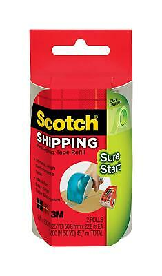 Scotch Sure Start Shipping Packaging Tape Refill For Scotch Easy Grip Dispenser