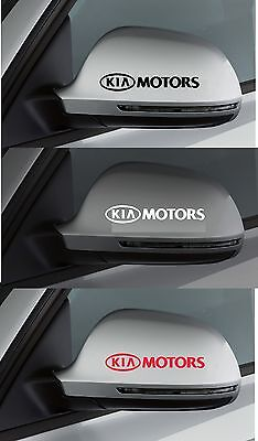 For Kia - 2 x KIA MOTORS Wing Mirror - CAR DECAL STICKER RIO CEE'D - 95mm long