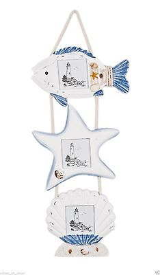 Nautical Fish Star Shell Photo Frame Wall Hanging Photo Frame Decoration - Star Photo Frame