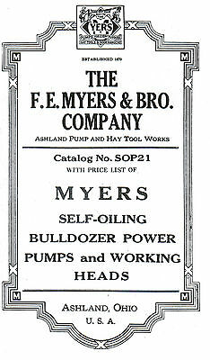 F E Myers Water Well Pumps Hit Miss Engine Powered Bulldozer Motor Tractor Gas