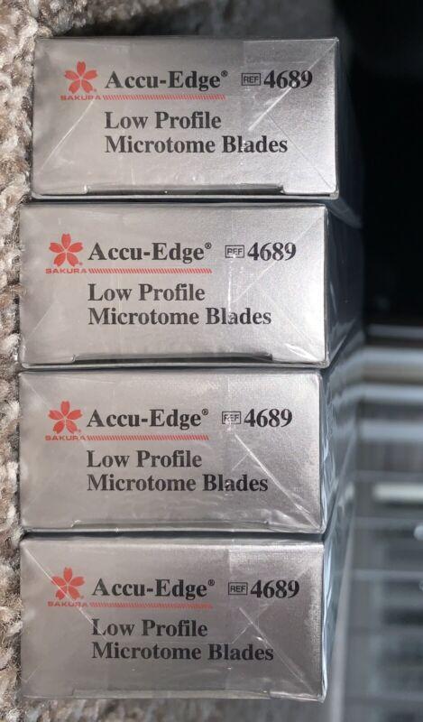 NEW Accu-Edge # 4689 - Box Of 50 Low Profile Microtome Blades (sealed)