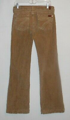 7 FOR ALL MANKIND CORDUROY DOJO Pants or Jeans - Sz 28 x 34