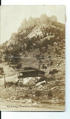 Foxton, Colo. Real Photo Postcard - The Midway - 1918 - LOOK!