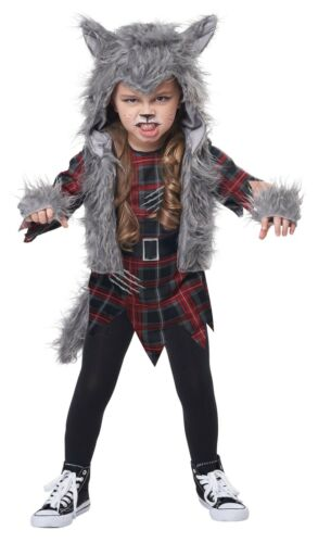 Wee Wolf Werewolf Girl Toddler Child Costume