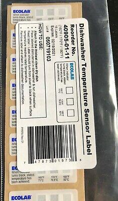 Ecolab Dishwasher 40905 Temperature Sensor Label