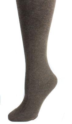 MeMoi Women's Flat Knit Cotton Blend Sweater Tights Q1/Q2 Brown Heather - Brown Sweater Tights