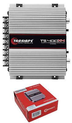 Taramps TS400X4 ಪೂರ್ಣ ಶ್ರೇಣಿ 2 ಓಮ್ 4 ಚಾನೆಲ್ 400W ವರ್ಗ ಡಿ ಕಾರ್ ಆಡಿಯೋ ಆಂಪ್ಲಿಫಯರ್
