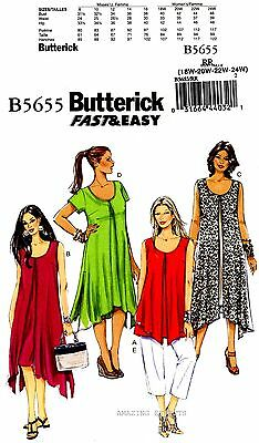 Butterick Sewing Pattern B5655 Women's 18-24 Dress Top Pants misses 5655