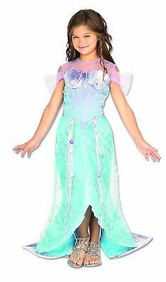 Deluxe Meerjungfrau Kostüme (Rubies Pretend Deluxe Meerjungfrau Fisch Kinder Mädchen Halloween Kostüm 882719)