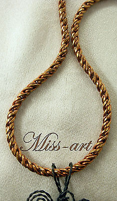 - Woven Rope 4MM VINTAGE SOLID Copper /Red Brass Chain Sparkling Necklace Miss-art