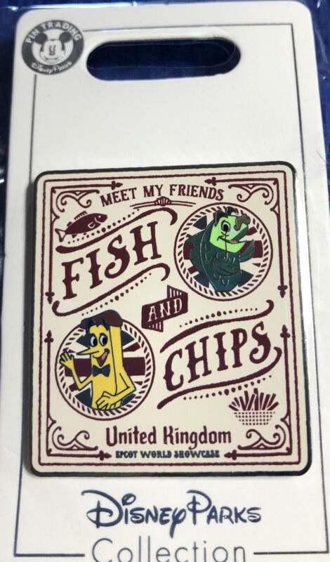 Disney Parks Epcot World Showcase United Kingdom Fish And Chips  Pin