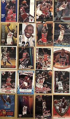 Lot of 20 Michael Jordan Base Insert Lot Cards No Dupes SP 90s Investor BGS PSA