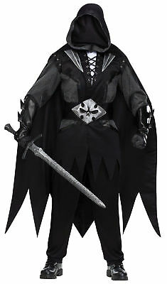 Evil Knight Adult Mens Costume Black Scary Undertaker Theme Party - Undertaker Costumes