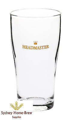 Headmaster Beer Glass 425ml x 6 Schooner Brew Bar Pub homebrew