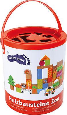 Holzbausteine Zoo 50 Teile für Kinder Bauklötze Steine Motorik Spielzeug 4232