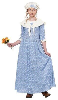 Girl Costums (Colonial Village Girl Pioneer Prairie Child Costume)