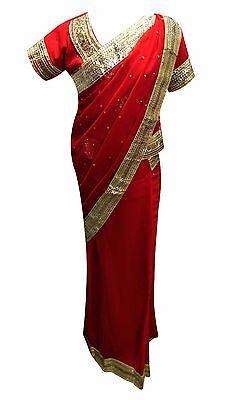 Indian Mädchen Bollywood-Thema Kinderkostüme Lehenga Sarees Hochzeit UK 1210