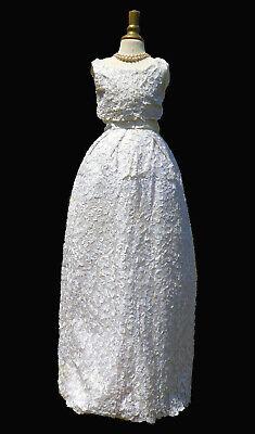 Ancienne robe de soiree style dior vintage 1960 mariee elizabeth taylor