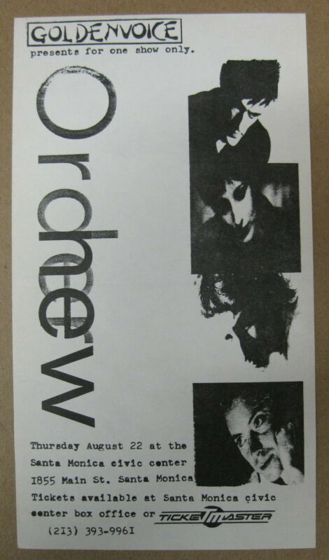 NEW ORDER Santa Monica Civic 1985 CONCERT FLYER Punk JOY DIVISON Minty!