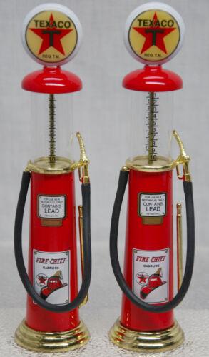 PAIR(2) OF TEXACO WAYNE VINTAGE GRAVITY GAS PUMPS