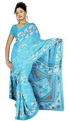Chiffon Bollywood Karneval Sari Orient Indien Fo332