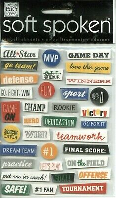 Sports Game Team Champ Practice Teamwork Victory Defense MAMBI chipboard sticker