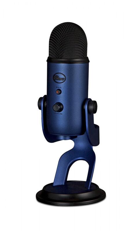 Blue Yeti USB Microphone - Midnight Blue Professional Recording Mac PC PS4 NEW