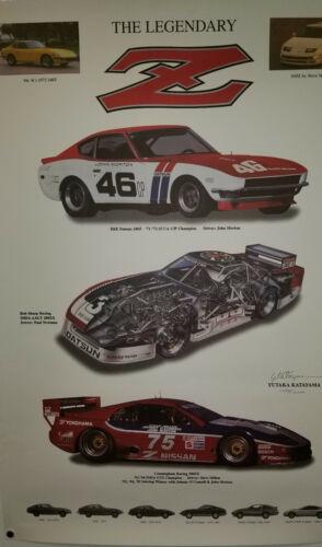 Limited Legendary Z Car Print, Datsun, Nissan Dream Garage & Z Evolution Posters