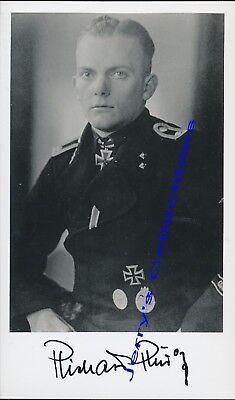 Richard Rudolf signed photo. KC winner. 12th SS Panzer.
