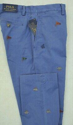 Polo Ralph Lauren Nautical Embroidered Chino Pants 32/32 32/34 NWT $99