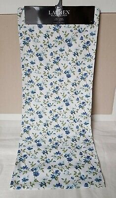 "NEW Ralph Lauren Blue Floral Table Runner 15"" x 72"" Cotton Cottage"
