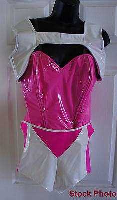 BIZZY B Custom pink white sexy Sci Fi Costume SING YOUR FACE OFF Nicki Minaj S](Sci Fi Womens Costumes)
