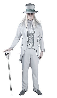 Mens Deluxe Scrooge Victorian Corpse Groom Ghost Costume Fancy Dress Outfit - Victorian Mens Outfit
