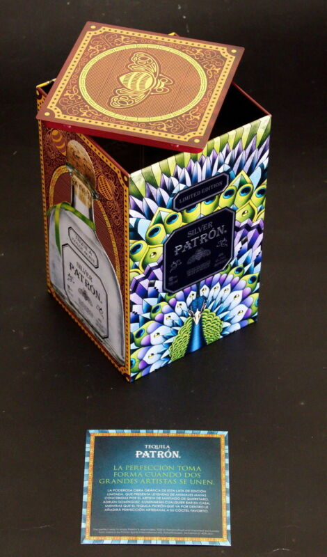 SILVER PATRON TEQUILA Limited Edition Mexico Maya Heritage Tin Box 2017 EMPTY