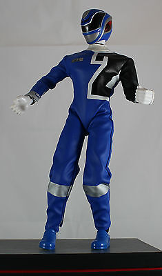 Power Ranger Action Figur, Blau, ca. 32 cm gross, mit Sound, sehr gut ()