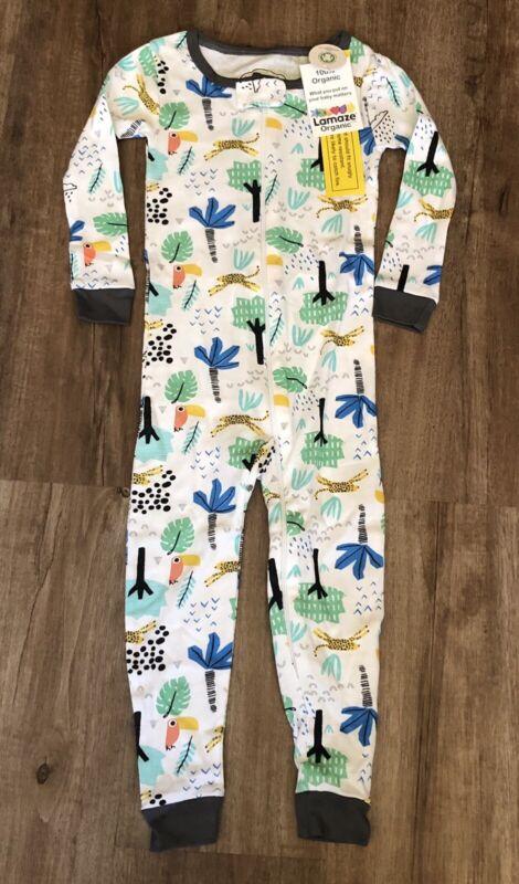 Lamaze Boys Footless Pajamas 100% Organic Cotton One Piece Jungle Size 2T NEW