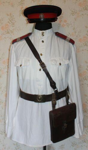 ORIGINAL MILITIA NKVD MVD SOVIET SUMMER WHITE TUNIC GIMNASTERKA STALIN ERA RARE