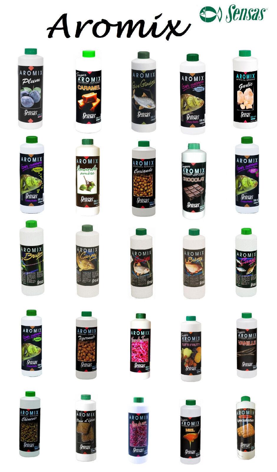 Sensas Aromix 500ml Flüssiglockstoff Futtermittel Liquid für Boilies und Futter