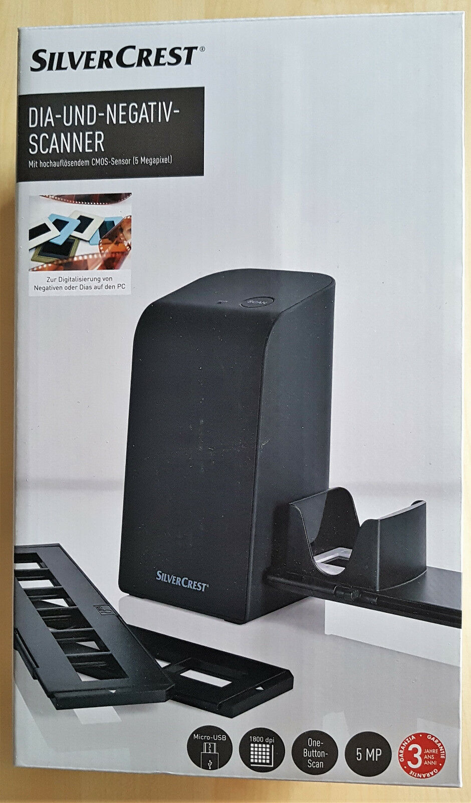 Diascanner und Negativscanner, SilverCrest SND 3600 D3