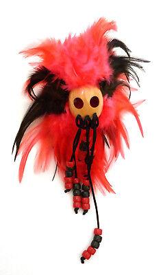 Hawaiian Feathered Ikaika War Helmet - Black & Red