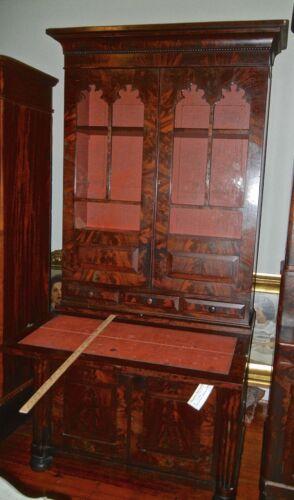Antique  Mahogany   Secretary   Federal Style 1800