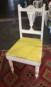 VINTAGE WOODEN REVAMPED CHAIR / BEACHY LOOK $40 Miami Gold Coast South Preview